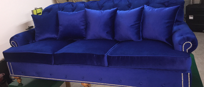 Sofa with New Upholstery